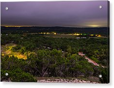 Night In A Texas Hill Country Valley Acrylic Print