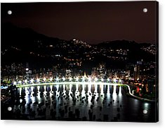 Night In Rio De Janeiro Acrylic Print by Daniel Precht