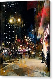Night In The City Acrylic Print