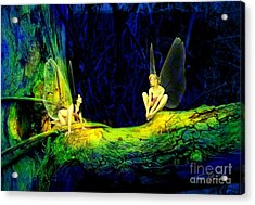 Night In The Cove Acrylic Print by Tom Straub