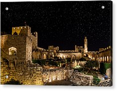 Night In The Old City Acrylic Print by Alexey Stiop