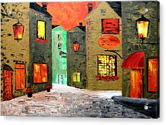 Night In The Town Acrylic Print by Mariana Stauffer