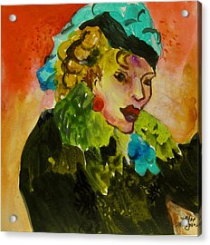Night Lady Ruby Acrylic Print by Carole Johnson
