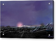 Night Landing Approch Acrylic Print by Greg Stew