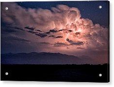 Night Lightning Acrylic Print by Cat Connor