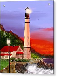 Acrylic Print featuring the digital art Night Lights 2 by Anthony Fishburne