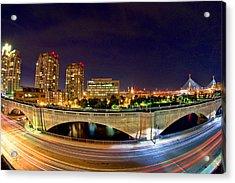 Night Moves 2-boston Acrylic Print by Joann Vitali
