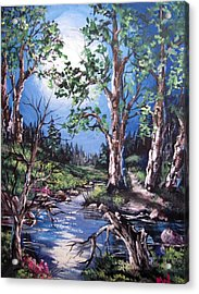 Acrylic Print featuring the painting Night Music by Megan Walsh