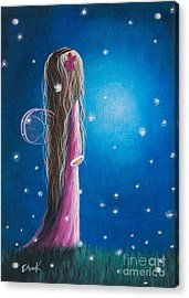 Original Fairy Artwork - Night Of 50 Wishes Acrylic Print by Shawna Erback