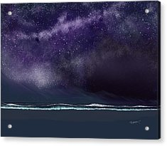 Acrylic Print featuring the digital art Night Of A Thousand Stars by Anthony Fishburne