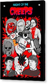 Night Of The Creeps  Acrylic Print by Gary Niles