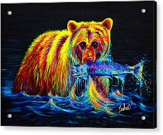Night Of The Grizzly Acrylic Print