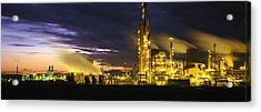 Night Oil Refinery Acrylic Print