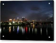 Night On The Junction Bridge Acrylic Print