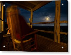 Night On The Porch Acrylic Print by Darryl Dalton