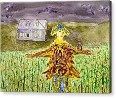 Night Owl Scarecrow Acrylic Print