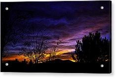 Night Paints The Sky Acrylic Print by Nancy Marie Ricketts