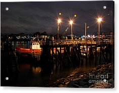 Night Pier Acrylic Print