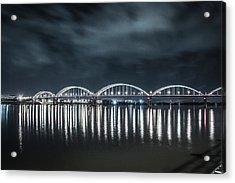 Night Reflections Acrylic Print by Ray Congrove