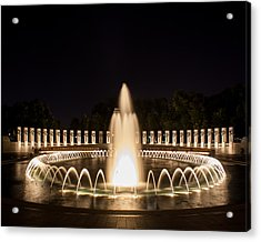 Night Reflections Wwii Memorial  Acrylic Print