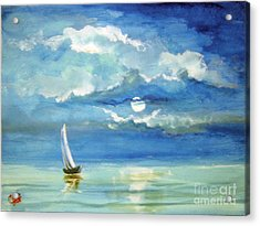 Acrylic Print featuring the painting Night Sail by Carol Hart