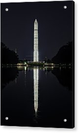 Night Scaffolding Acrylic Print by Metro DC Photography