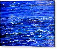 Night Sea Acrylic Print by Arthur Robins