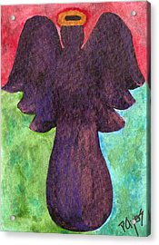 Night Shift Angel Acrylic Print by Paula Ayers