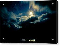 Night Sky And Moon Himalyan Acrylic Print