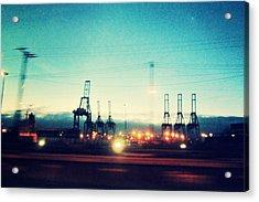 Seattle Night Sky Acrylic Print
