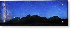Night Sky Over Grand Teton National Park Acrylic Print by Walter Pacholka, Astropics