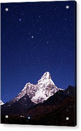 Night Sky Over Mountains Acrylic Print by Babak Tafreshi
