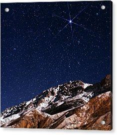 Night Sky Over The Alborz Mountains Acrylic Print by Babak Tafreshi