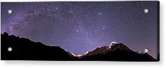 Night Sky Over The Himalayas Acrylic Print by Babak Tafreshi