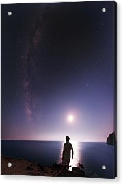 Night Sky Over The Mediterranean Sea Acrylic Print by Babak Tafreshi