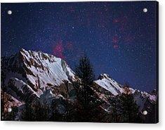 Night Sky Over The Tyrol Alps Acrylic Print by Babak Tafreshi