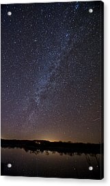 Night Sky Reflected In Lake Acrylic Print