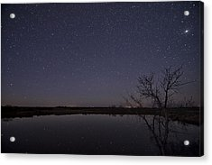 Night Sky Reflection Acrylic Print