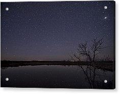 Night Sky Reflection Acrylic Print by Melany Sarafis