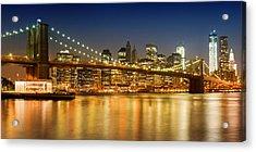 Night-skyline New York City Acrylic Print
