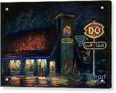 Night Spot Acrylic Print by Bruce Schrader