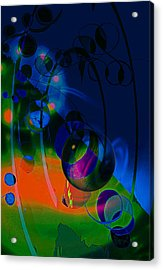 Acrylic Print featuring the photograph Night ...sracts by Allen Beilschmidt