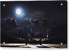 Night Stalker Awaits Acrylic Print by Peter Chilelli
