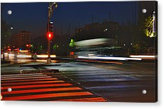 Night Streaks Acrylic Print by Joann Vitali