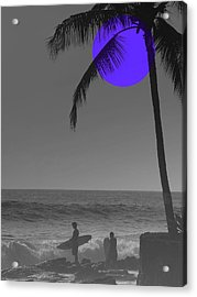 Night Surf Acrylic Print