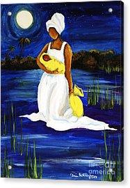 Night Tide Acrylic Print by Diane Britton Dunham