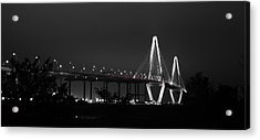 Night Time On The Bridge Acrylic Print by Andrew Crispi