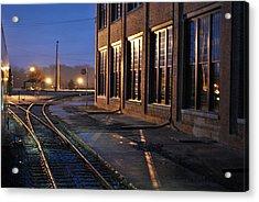 Night Tracks Acrylic Print by Misty Stach
