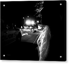 Night Traffic Stop Three Acrylic Print by Bob Orsillo