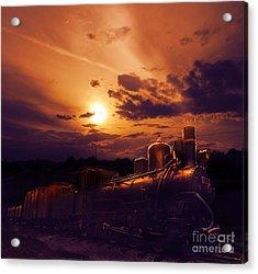Night Train Acrylic Print by Jelena Jovanovic